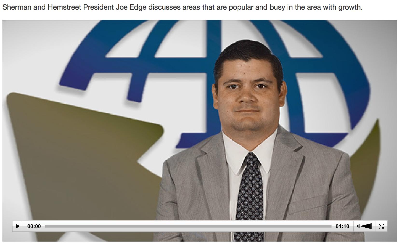 Joe Edge hot areas AUG CEO | Sherman and Hemstreet